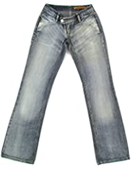 FREESOUL femme bootcut jeans used-look Jean (bleu clair/bleu)