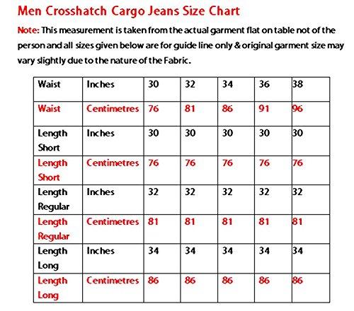 Hommes concepteur nouvelles hachures : sablage Denim braguette à boutons Regular Fit Jeans Cargo Light Wash