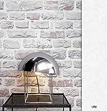 NEWROOM Steintapete Tapete Grau Mauer Stein Modern Vliestapete Grau Vlies moderne Design 3D Optik Steintapete Ziegelstein Backstein Mauerwerk Klinker Loft inkl. Tapezier Ratgeber