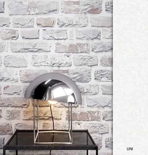 NEWROOM Steintapete Tapete Grau Mauer Stein Modern Vliestapete Grau Vlies moderne Design 3D Optik Steintapete Ziegelstein Backstein Mauerwerk Klinker Loft inkl. Tapezier Ratgeber (Stein-fliesen-tapete)