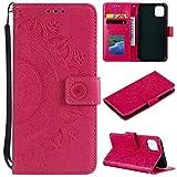 CoverKingz Handytasche für Apple iPhone 11 (6,1 Zoll) Handyhülle, Flip Case Cover, Schutzhülle mit Kartenfach, Handy Hülle Motiv Mandala Pink
