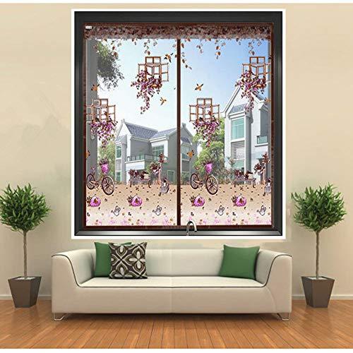 YOLE Anti-moskito-Bug-Vorhang, Magnet fliegengitter tür insektenschutz Unsichtbar Gaze Magnet Fensterbildschirm Für Schlafzimmer Küche Wohnzimmer Hausgarten,C,70 * 120cm/27.5 * 47in - Vorhänge Terrasse Küche
