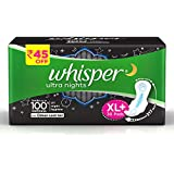 Whisper Ultra Overnight Sanitary Pads with Wings - 30 Pieces (XL Plus)