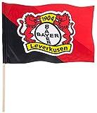 Stockflagge Bayer 04 Leverkusen - 60 x 90 cm + gratis Aufkleber, Flaggenfritze®