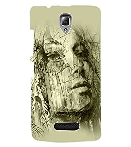 ColourCraft Abstract Back Case Cover for LENOVO A2010