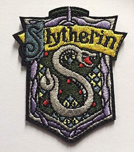 Applikation Classic Harry Potter House Slytherin Cosplay Badge bestickt zum Aufnähen oder Aufnähen