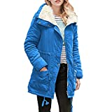 NPRADLA Womens Warm Long Coat Collar Hooded Jacket Slim Winter Parka Outwear Coats
