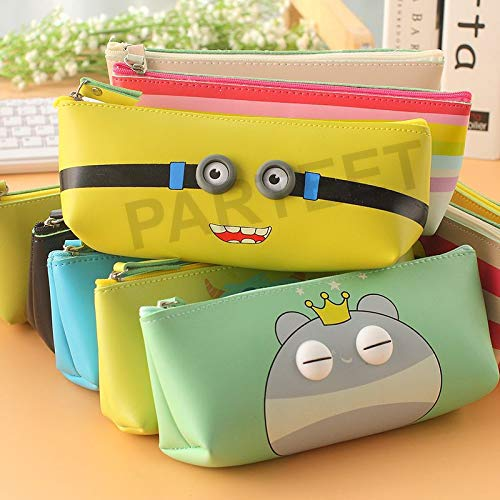 Parteet Soft Silicon School Pencil Pouch Stationery Case Box -for Birthday Party Return Gift for Kids(Pack of 6 Pcs)(Assorted Design)