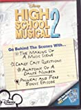 High School Musical 2 Behind The Scenes DVD Plus MP3 Gems Stickers - The Making of a Music Scene / Crazy Cast Questions / Anatomy of a Dance Number / Phineas and Ferb Bonus Episode