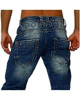 Cipo Baxx Jeans und-Kerben wash-Recht und draußen
