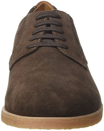 Geox U Dwain B, Derbys Homme Marron (Chocolate)