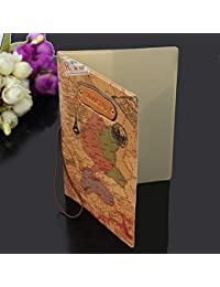 Primi Holder ID Tarjeta Paquete billete bolsa de viaje nuevo mapa del mundo de piel sintética