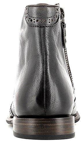 Gordon & Bros Steve A150426 GL Stylischer, Eleganter Herren Leder Schnürstiefel mit Seitlichem Reißverschluss, Brogue Stil, Used Look, Leder/Gummisohle in Blake Rapid Machart Grey