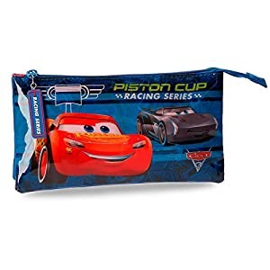 Cars – Estuche escolar 3 compartimentos Piston Cup Cars Disney