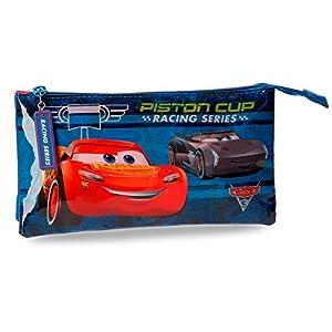 Cars–Estuche escolar 3compartimentos Piston Cup Cars Disney