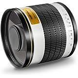Walimex Pro 500mm 1:6,3 DSLR Spiegel-Teleobjektiv (Filtergewinde 34mm) für T2 Objektivbajonett weiß