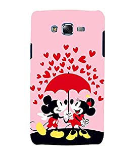 printtech Mickey Minnie Mouse Love Back Case Cover for Samsung Galaxy J1 (2016) / Versions: J120F (Global); Galaxy Express 3 J120A (AT&T); J120H, J120M, J120M, J120T Also known as Samsung Galaxy J1 (2016) Duos with dual-SIM card slots