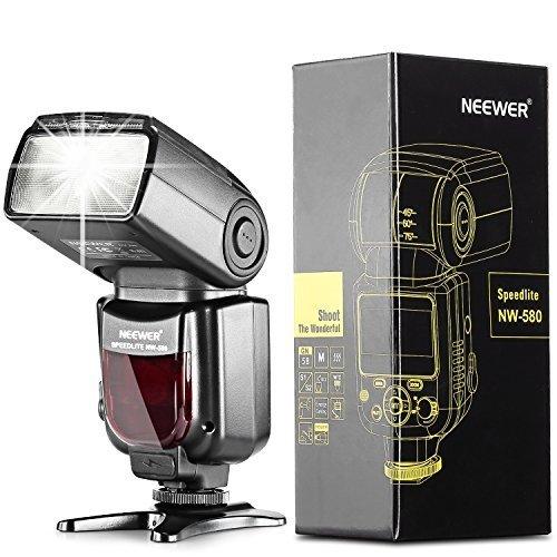 Neewer® NW580/VK750 Speedlite Flash Blitzgerät mit LCD Anzeiger für Canon Nikon Panasonic Olympus Pentax und andere Digital DSLR Kameras, wie z.B. Canon EOS 5D Mark III , 5D Mark II, 1Ds Mark 6D, 5D, 7D, 60D, 50D, 40D, 30D, 300D, 100D, 350D, 400D, 450D, 500D, 550D, 600D, 650D, 700D, 1000D, 1100D/EOS Digital Rebel, SL1, XT, Xti, Xsi, T1i, T2i, T3i, T4i, T5i, XS, T3; Nikon D4S D4 D3S D800 D700 D80 D90 D7000 D7100 D50 D40X D60 D5000 D5100 D5200 D5300 D40 D3000 D3100 D3200 D3300 Pentax Canon Digital Rebel