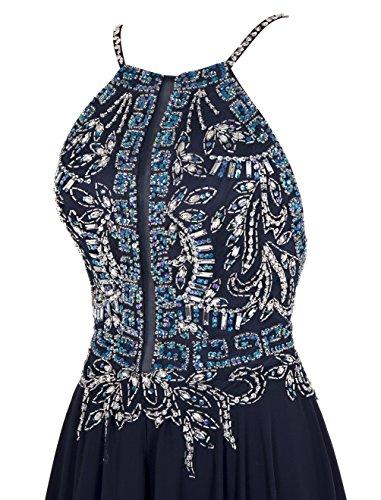 Dresstells, Robe de soirée Robe de cérémonie Robe de gala emperlée dos nu bretelles spaghetti Pourpre
