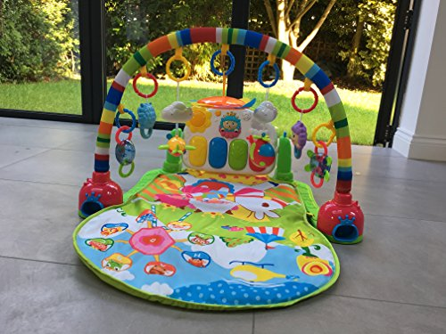 SURREAL 3 in 1 Baby Piano Play Gym PlayMat Music and Lights – Green