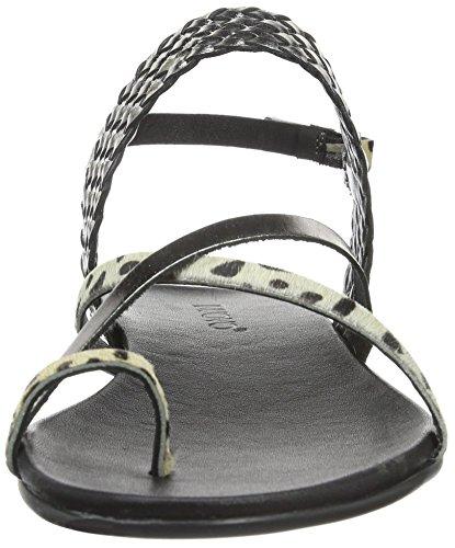 Inuovo - 6217, Scarpe col tacco con cinturino a T Donna Multicolore (Mehrfarbig (CHEETAH-PEWTER))