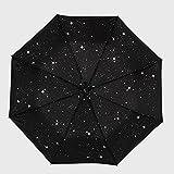 Alger Stern Regenschirm UV Sonnenschirm Regenschirm Regenschirm Vinyl Männer und Frauen Regenschirm Falten , silver stars , 23 inches