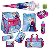 Familando Disney die Eiskönigin Schulranzen-Set 10-TLG. Scooli Campus Up Frozen Magic mit Sporttasche Federmappe Schultüte 85 cm und Regenschutz