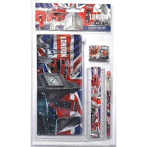 Scene Londra con Union Jack Scuola Kit ed accessori