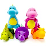 Best US Toy Baby Bath Tubs - Baby Bath Toys - Set of 5 Dinosaur Review