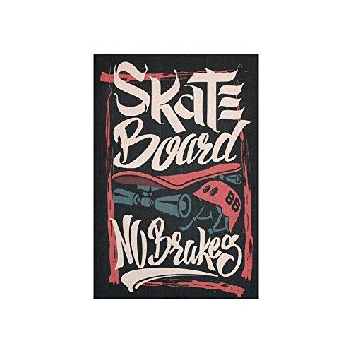 interestprint Wandbehang Wandteppich, Skate Board keine Bremsen Art Gemälde Wandbehang Home Decor für Wohnzimmer Schlafzimmer Wohnheim 152,4x 101,6cm (Skateboard-zimmer Dekor)