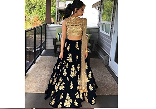 Ustaad Latest Banglori silk black Color Lehenga Choli