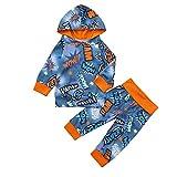 MRULIC Kleinkind Baby Jungen Hoodie Pullover Tops + Hosen Outfits Set Anzüge 60-100CM(Blau,80-90CM)