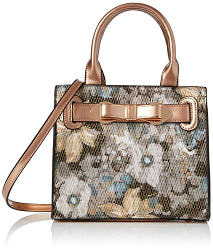 Swanky Swans Damen Mila Floral Mini Handbag Umhängetasche, Gold (Rose Gold), 8x28x20 cm (Damen Handtasche Floral)