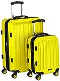 Packenger Premium Koffer 2er-Set Velvet, M/XL, Lemon-Gelb