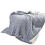 SIKESONG Massives Weiches Dicke Warme Strick Decke Tagesdecke Handgewebt Decke Bett Betten Grau