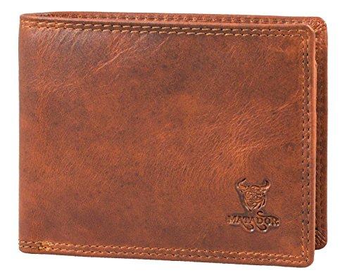 MATADOR Geldbörse Geldbeutel Herren ECHT Leder Portemonnaie weiches Rindsleder 9 Kartenfächer RFID