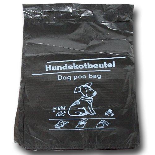 1000 Stück Hundekotbeutel 21x32+3,5 cm - zu 100 Stück geblockt - Der Umwelt zuliebe aus 100% Recycling Material! -