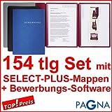 50 dreiteilige Bewerbungsmappen SCHWARZ + 50 DIN B4 Versandtaschen + 50 Adressetiketten + Extras