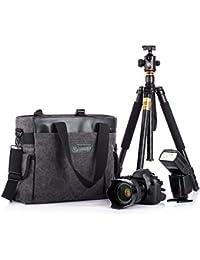TARION sac/sacoche bandoulière reflex sac d'épaule sac de caméra en toile avec logement de transport de trépied pour appareil photo numérique DSLR objectif flash etc