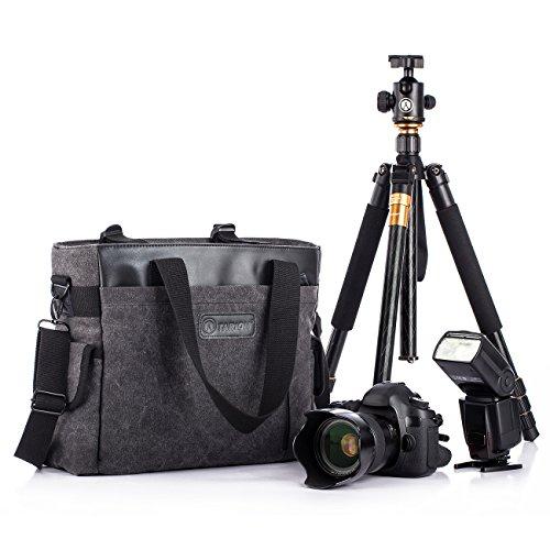 TARION TB-02 Fototasche für SLR Kameras Digitalkamera Objektive Blitzgeräte Stative und Zubehör Schwarz