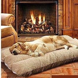 Catalpa Blume, cuscino per cani, misura XL, lavabile, 70 x 50 x 12 cm