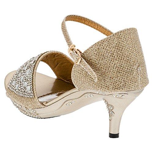 Infiniti Shoes - Pantofole a Stivaletto Bambina #167go Gold
