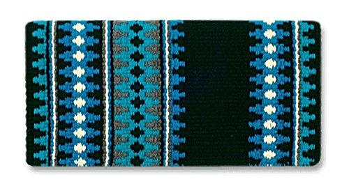Mayatex Satteldecke Catalina, Black/Show Turquoise/Soft Turquoise/Cream, 38 x 34-Inch -