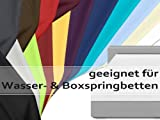 Jersey Elasthan Spannbettlaken für Wasser- und Boxspringbetten - in 15 modernen Farben - Steghöhe ca. 40 cm - Maße ca. 180-200 x 200-220 cm, anthrazit