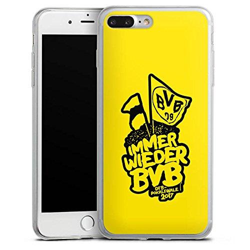 Apple iPhone 8 Slim Case Silikon Hülle Schutzhülle Borussia Dortmund BVB Pokalfinale Fanartikel Silikon Slim Case transparent