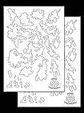 Acid Tactical® 2 Packung - Einzige Modelle KLEBSTOFF klebrig Tarnung Airbrush Sprühfarbe Schablonen 35cm - Farbvorlage - A-TACS CAMO