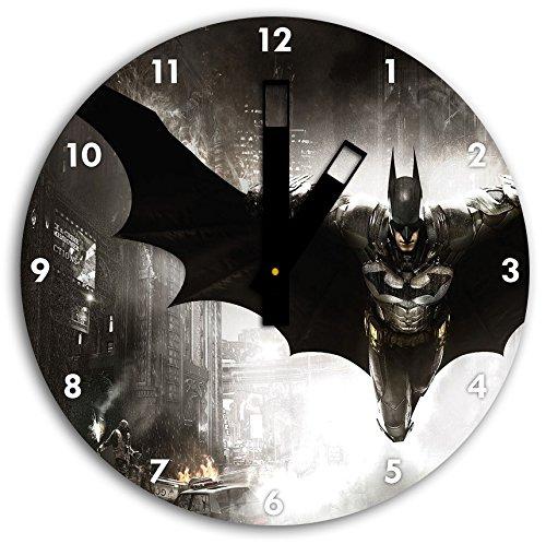 foto de Batman en el reloj de pared con negro blunt las manos y la cara, de 30 cm de diámetro, decoración perfecta para su hogar, idea regalo estupendo para jóvenes y mayores