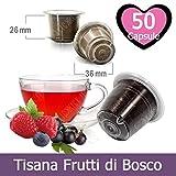 50 Capsule Kickkick Tisana Ai Frutti Di Bosco Compatibili Nespresso