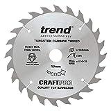 Trend CSB/16024 Trend CSB/16024 Craft Saw Blade 160mm x 24 teeth x 20mm - Silver