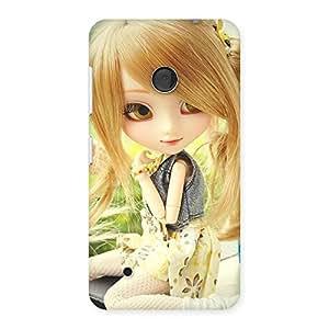 Premium Cute Smiling Doll Multicolor Back Case Cover for Lumia 530